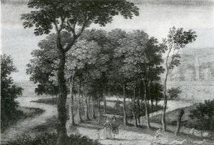 Landschap met een bomenlaan