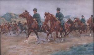 Oefening van de Nederlandse cavalerie