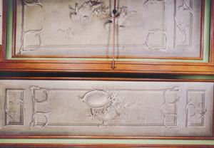 Grisailleschildering met het wapen van de ridderhofstad Loenersloot