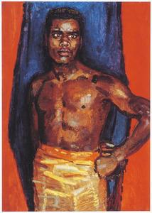 Portret van een donkere man