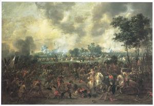 Landschap met veldslag