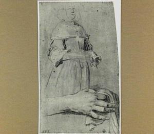 Studie van een jonge vrouw en van haar rechter hand