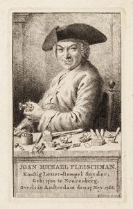 Portret van Johan Michael Fleischmann (1701-1768)