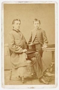 Portret van Abraham Rutgers van der Loeff (1839-1886) en Abraham Rutgers van der Loeff (1865-1927)