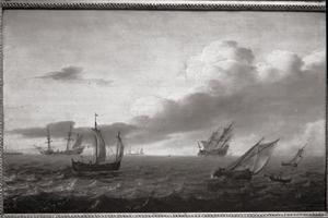 Zeilschepen op open zee