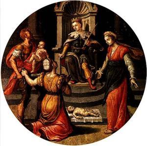 Het oordeel van Salomo: de ware moeder verhindert de beul het kind te halveren (1 Koningen 3:26)
