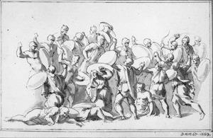 Vechtende romeinse soldaten