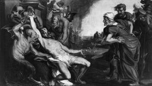 Job gekweld door demonen en zijn vrouw (Job 1-42)