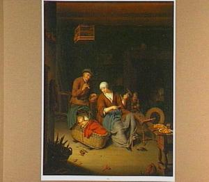 Familie in een interieur (de Heilige Familie)
