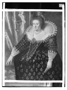 Portret van een vrouw, genaamd Anna Johanna van Nassau (1594-1636)