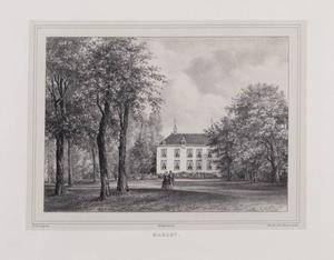 Parklandschap met gezicht op de hofstede Marlot