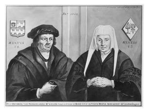 Dubbelportret van Hendrick Cornelis Hendricksz. van Slingelandt (1483/1484-....) en zijn echtgenote Digna Bogaert (1484/1485-....)