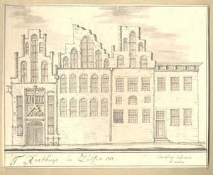 Zutphen, het stadhuis anno 1717