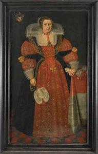Portret van Sophia van Vervou (1613-1671)