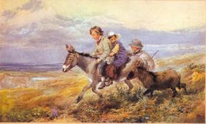 Kinderen met een ezel