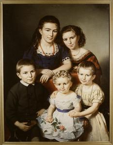 Portret van de kinderen van Paulus Hubert Andries Martini Buys (1835-1915)