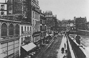 Rue du Départ (waar Piet Mondriaan zijn atelier had), gezicht naar Boulevard Ed. Quinet