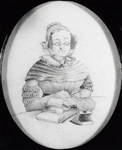 Portret van Hillegonda Rachel Ganderheyden (1785-1858)