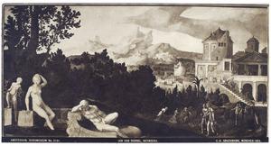 David ziet vanuit zijn paleis het toilet van Bathseba  (2 Samuel 11: 1-2)