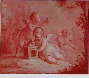 Allegorie op de Lucht, door putti uitgebeeld