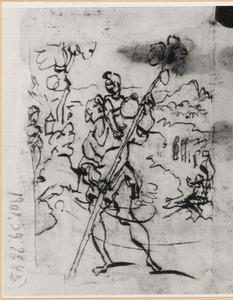 H. Christoffel met het Christus-kind wadend door de rivier