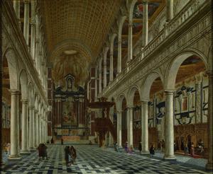 Interieur van de Jezuïetenkerk (nu H. Carolus Borromeus) te Antwerpen