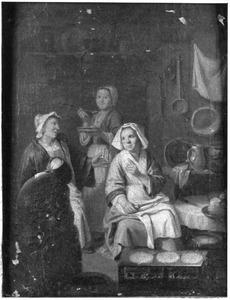 Keukeninterieur met pannenkoekenbaksters