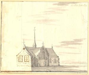 Batenburg, gezicht op de kerk