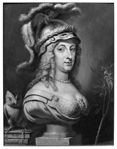 Allegorisch portret van koningin Christina van Zweden (1626-1689) als Minerva