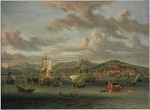 Hollandse schepen in de baai van Smyrna