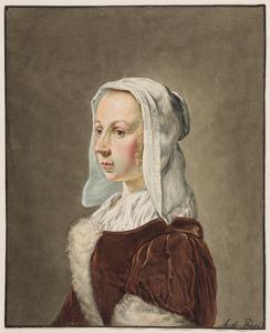 Portret van Cunera (Kniertje) van der Cock (1630-1681)