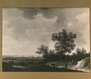 Landschap met verschillende figuren