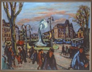 Gezicht op het Frederiksplein, Amsterdam 1938