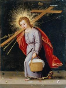 Christuskind dat de instrumenten van de Passie draagt