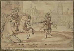 Jeugd van de H. Anno, de paardrijles