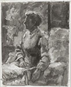 Portret van Jeanne Bieruma Oosting (1898-1994)