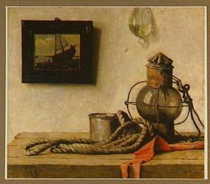 De oude scheepslantaarn