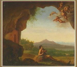 Johannes de Doper in een grot