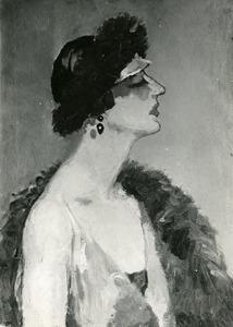 Profiel van vrouw