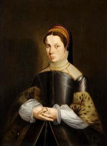 Portret van Ysabeau van der Vere, echtgenote van Rholand de Pottere