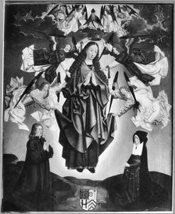 De tenhemelopneming van Maria met Jan Dirksz. Sill (+ 1541) en Liesbeth Huigensdr. (+ na 1535)