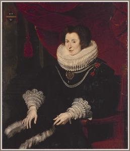 Portret van een vrouw uit de Bourgeois-familie, waarschijnlijk Anna de Bourgeois (+1636)