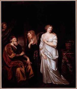 Sara brengt Hagar bij Abraham  (Genesis 16:3)