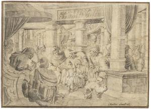 Christus lerarend in te tempel