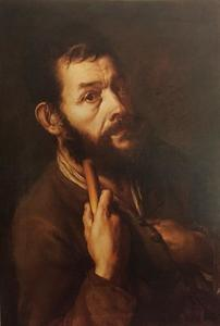 Zelfportret van Giacomo Ceruti (1698-1767) als pelgrim