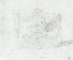 Ontwerp voor sarcofaag, allegorie op de dood