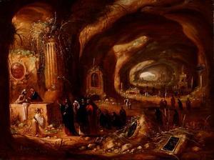 De opwekking van Lazarus in een grot