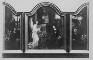 Simon du Quesno en zijn zonen met de H. Simon (links), De Annunciatie (midden), Maria van der Tommen en haar dochters met Maria Aegyptica (rechts)