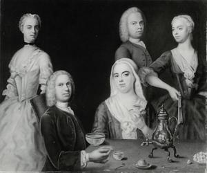 Portret van de familie Denner