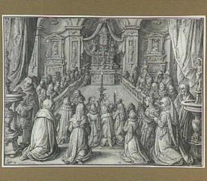 Communie uitreiking in de kerk